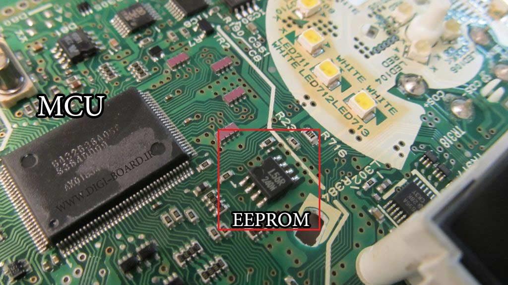 یک نمونه EEPROM و MCU