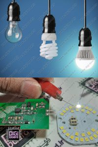 آموزش تعمیر لامپ کم مصرف LED ال ای دی