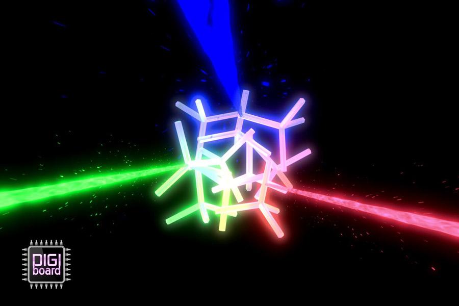 به خاطر نوع  ساختار داخلی، این نانوذره می تواند طول موج های سبز،آبی و قرمز را پراکنده کند